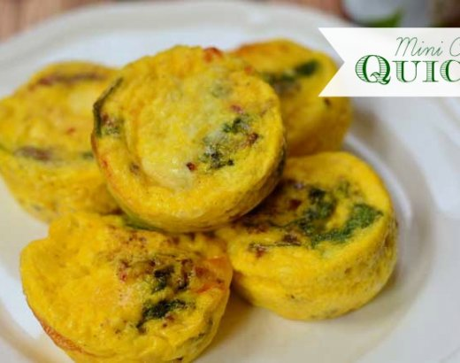 Mini Crustless Quiche Recipe