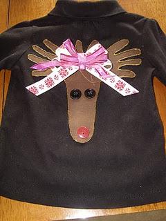 Reindeer Handprint Shirt