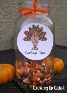 Turkey Toes Thanksgiving Craft