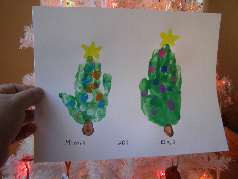 christmas tree handprint - photo #13