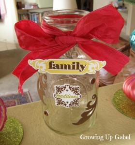 Family Memory Jar - Growing Up Gabel