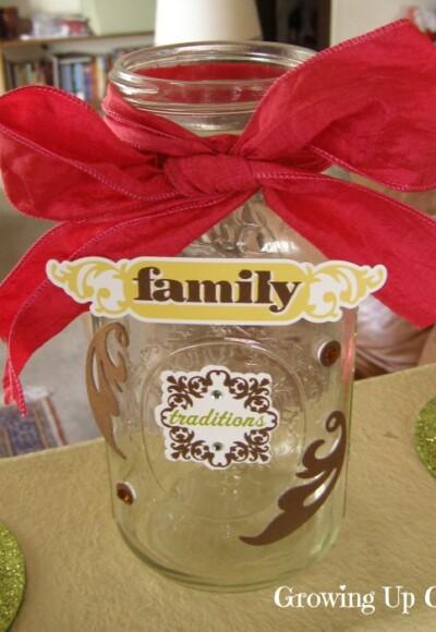 Family Memory Jar - Growing Up Gabel