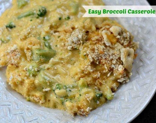 Mom's Easy Cheesy Broccoli Casserole Recipe