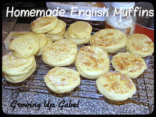 Homemade English Muffin Recipe from Growing Up Gabel @thegabels