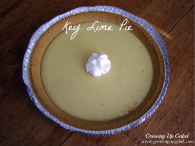 Key Lime Pie from growingupgabel.com @thegabels #recipe