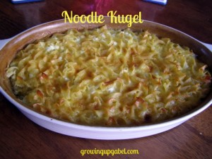 Noodle Kugel from growingupgabel.com @thegabels #Passover #recipe
