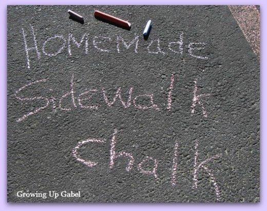 How to Make Sidewalk Chalk