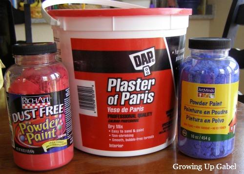 Plaster Powder To Water : Homemade sidewalk chalk family balance sheet