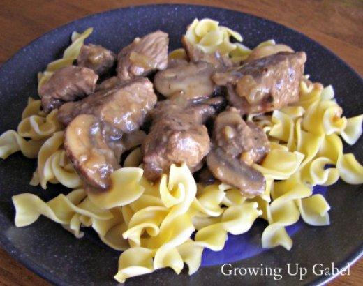 Steak Tips with Mushroom Gravy
