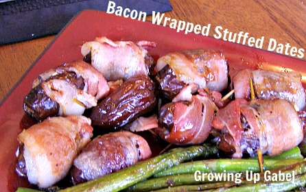 Bacon Wrapped Dates - Growing Up Gabel @thegabels
