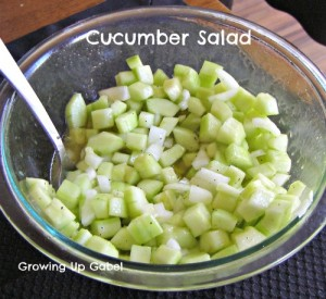 Simple Cucumber Salad ~ Growing Up Gabel