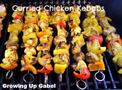 Curried Chicken Kebabs from growingupgabel.com @thegabels #recipe #chicken