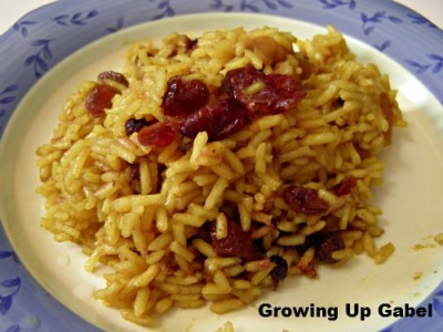 Curried Rice with Dried Fruit