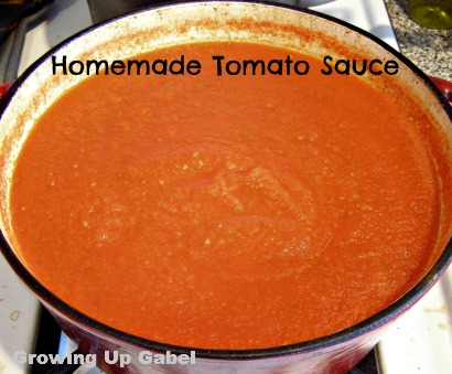 Homemade Tomato Sauce ~ Growing Up Gabel