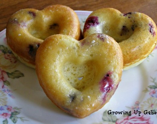 Homemade Blueberry Donuts