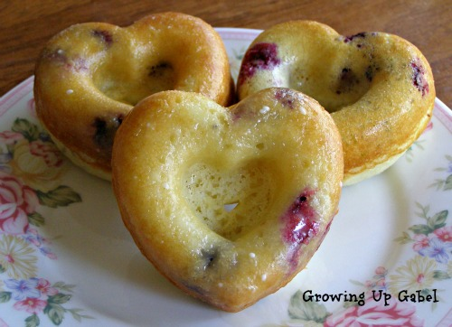 Baked Blueberry Donuts
