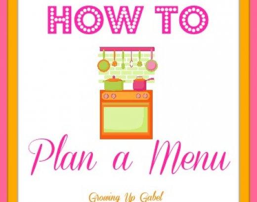 How to Plan A Menu
