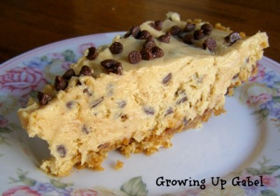Peanut Butter Chocolate Chip Pie ~ Growing Up Gabel @thegabels