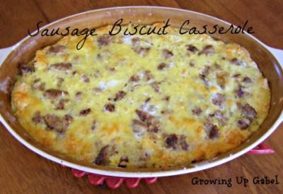 Sausage Biscuit Casserole