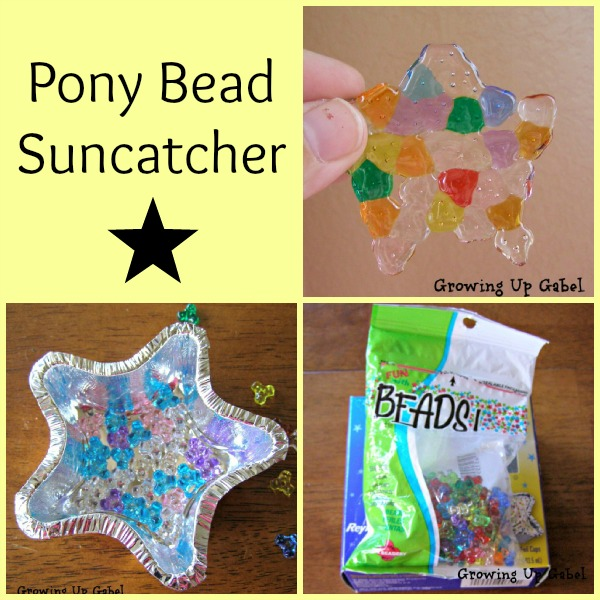 Pony beads  suncatcher from growingupgabel.com @thegabels #crafts