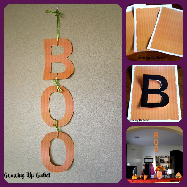 Halloween Printable paper to make a cute decoration