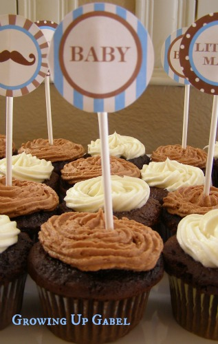 Chocolate Cupcakes with Chocolate Malt Butter Cream Frosting