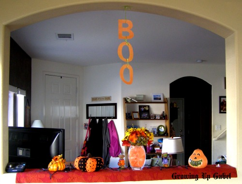 Halloween Printable Decoration above the mantle ledge