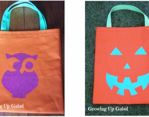 Easy To Sew Trick Or Treat Bags for Halloween