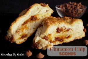 Cinnamon Scones with Cinnamon Chips