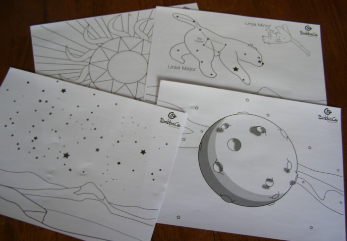 Babba Box Constellation Coloring Sheets #BabbaBox