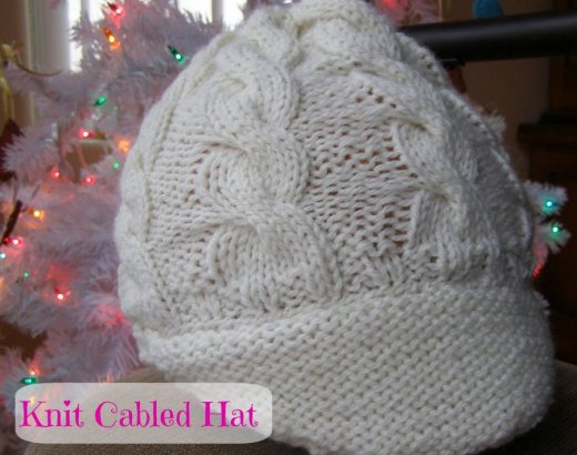 Handmade Christmas Presents: Knit Cabled Hat