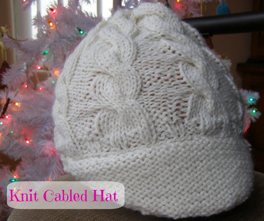 Knit Cabled Hat
