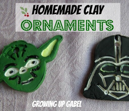 Homemade Clay Star Wars Christmas Ornaments