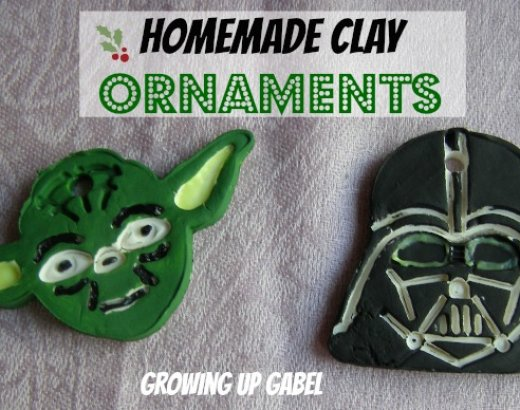 Homemade Clay Christmas Ornaments: Star Wars Style