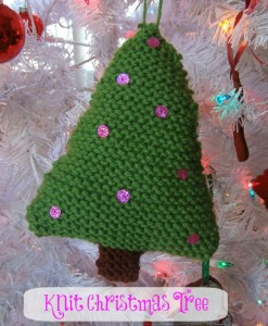 Knit Christmas Tree Ornament
