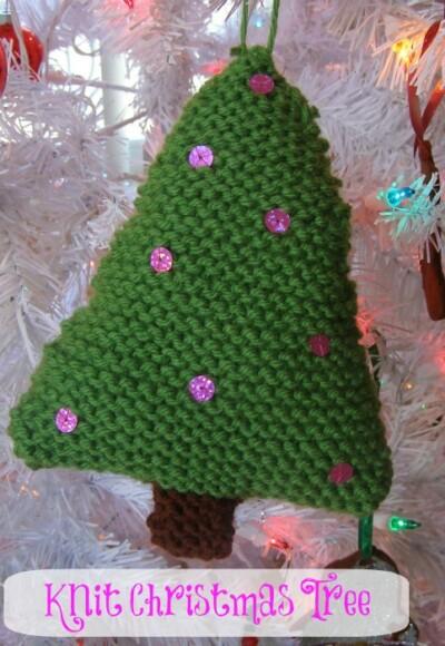 Knit Christmas Tree Ornament