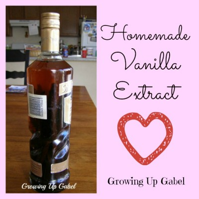 Homemade Vanilla Extract from Growing Up Gabel @thegabels #recipes