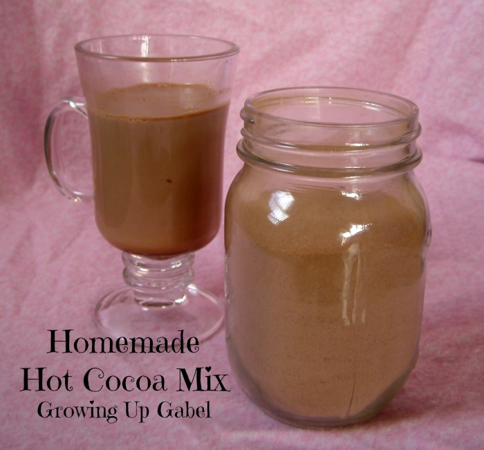 Homemade Hot Cocoa Mix - Growing Up Gabel @thegabels #recipes