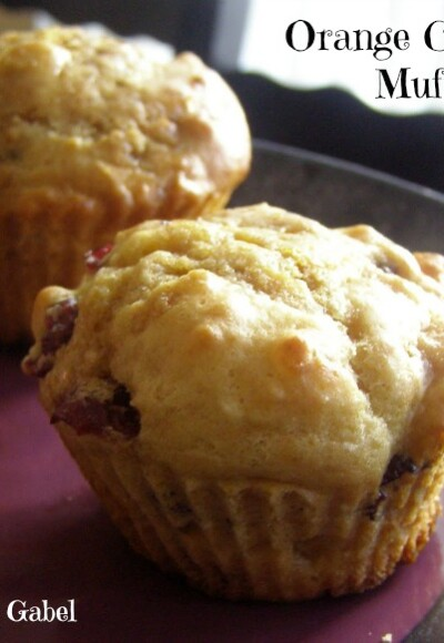 Orange Cranberry Muffins - Growing Up Gabel