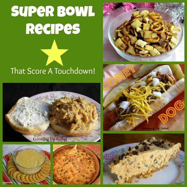 Super Bowl Recipes from Growing Up Gabel @thegabels