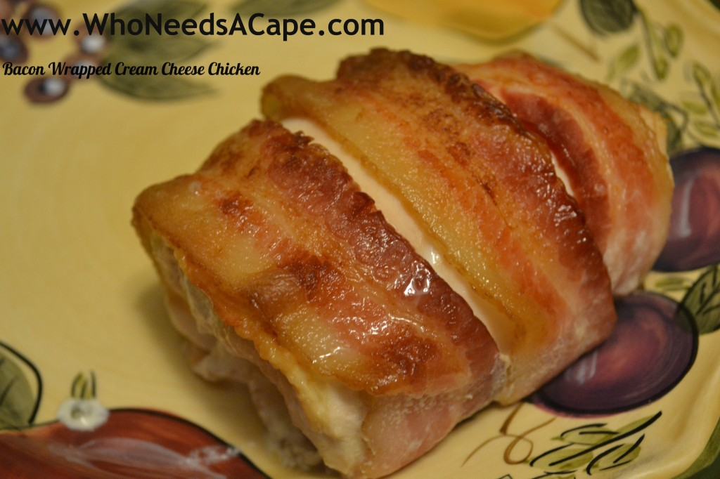 Bacon wrapped cream cheese chicken