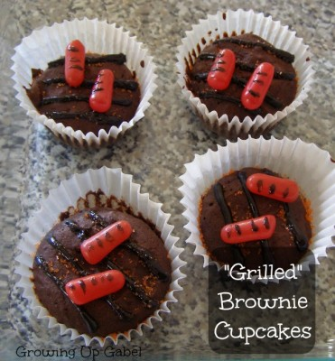 Grilled Brownie Cupcakes from growingupgabel.com @thegabels #recipe #dessert