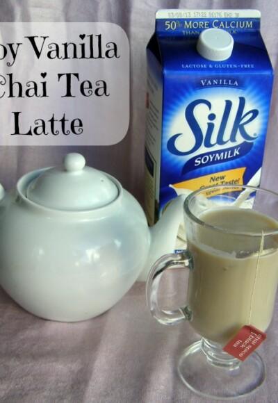 Silk Vanilla Soy Chai Tea Latte Recipe from Growing Up Gabel @thegabels #recipe