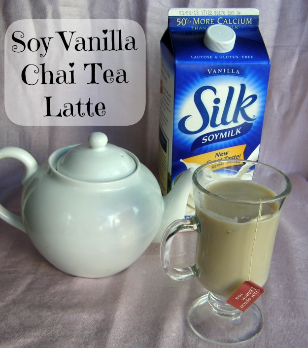 Silk Vanilla Soy Chai Tea Latte Recipe from Growing Up Gabel @thegabels #recipe