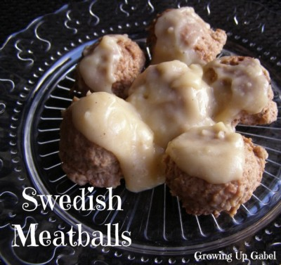 Swedish Meatballs from growingupgabel.com @thegabels #recipe