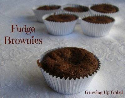 Fudge Brownies from growingupgabel.com @thegabels #recipe