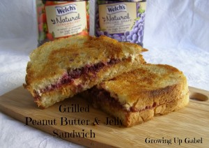 Peanut Butter and Jelly Grilled Sandwiches for National Peanut Butter and Jelly Day!