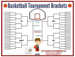 Free Printable: Basketball Tournament Brackets from http://growingupgabel.com @thegabels