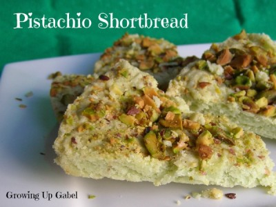 Pistachio Shortbread Recipe from http://growingupgabel.com @thegabels #recipe