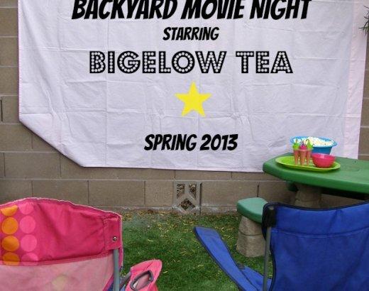 Backyard Movie Night Starring Bigelow Tea